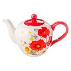 Чайник заварочный, 1200 мл Маковый цвет, керамика MILLIMI