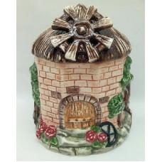 """Банка для сыпучих продуктов,Домики керамика, 600мл, """"Мельница"""""""