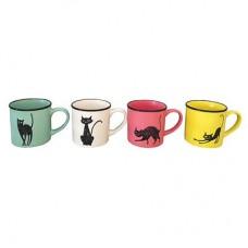 Кружка Черный кот, 320мл, керамика, 4 цвета
