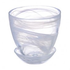 Горшок с поддоном, стекло, 0,45л, №1 93-024 алеб.бел