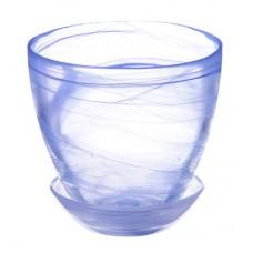 Горшок с поддоном, стекло, 0,45л. №1 93-024 алеб.гол.