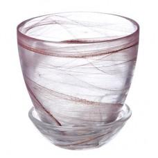 Горшок с поддоном, стекло, 0,45л, №1 93-024 алеб.кор