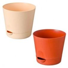 Горшок для цветов, пластик, Le Parterre 1,4л d150 с поддоном, 3 цвета