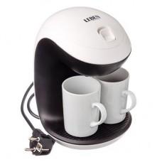 Кофеварка капельная 350Вт две керамические чашки 0,3л LEBEN