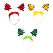 Ободок карнавальный, пластик, полиэстер, 23х17см, 3 цвета, арт.7006 СНОУ БУМ