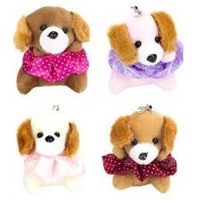 Брелок мягкий в виде собаки, полиэстер, 7,3х5,3см, 4 цвета СНОУ БУМ