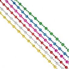 Бусы декоративные, 200см, пластик, 6 цветов (1,33,43,28,49,17) арт 55- 02 СНОУ БУМ
