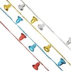 Бусы декоративные с колокольчиками, 200см, пластик, 4 цвета, VB4, VR1, VG2, VS СНОУ БУМ