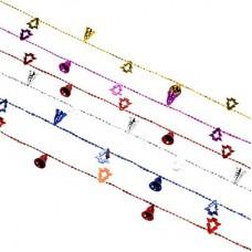 Бусы декоративные, пластик, 200см, колокольчики и елочки, 6 цветов СНОУ БУМ