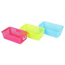 "Блок для хранения мелочей ""Корзина"", 20x11x7см, пластик, 3 цвета, арт.3538"