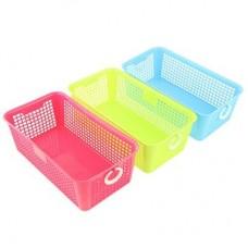 "Блок для хранения мелочей ""Корзина"", 26x14x9см, пластик, 3 цвета, арт.3536"