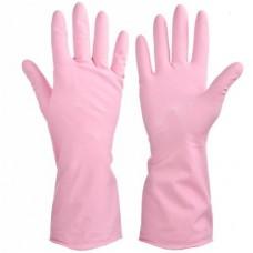 Перчатки резиновые прочные с запахом розы L VETTA