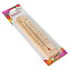 Термометр деревянный Уют, блистер, 1х4,5х19,5см INSALAT