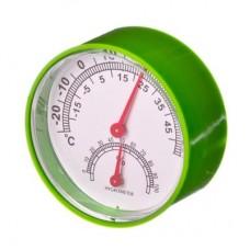 Термометр + влагомер на блистере, 6,3см, металл, пластик, 3 цвета INSALAT