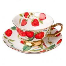 Набор чайный 2 пр., 200мл, костяной фарфор Земляничный пунш MILLIMI