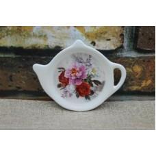 Подставка для чайных пакетиков Пионы 12х8,4х1,5см, керамика MILLIMI
