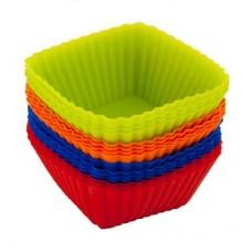 """Набор форм силиконовых 16шт, 7х3см, квадратные, """"Кекс"""", 4 цвета, HS-L10 VETTA"""