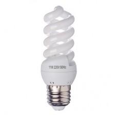 Лампа энергосберегающая E27 11W 2700K полн.спираль FORZA