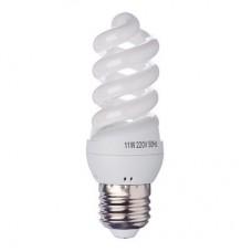 Лампа энергосберегающая E27 11W 4100K полн.спираль FORZA