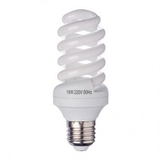 Лампа энергосберегающая E27 18W 2700K полн.спираль FORZA