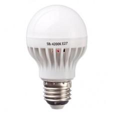 Лампа светодиодная A60 5W, E27, 300lm 4200К PROMO