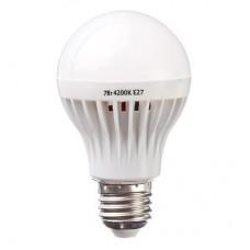Лампа светодиодная A65 7W, E27, 400lm 4200К PROMO